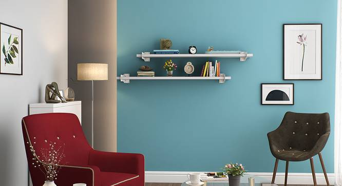 Ryter Shelves - Set Of 2 (White, 4' Shelf Width) by Urban Ladder