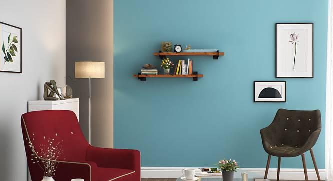 Ryter Shelves - Set Of 2 (2.5' Shelf Width, Teak) by Urban Ladder