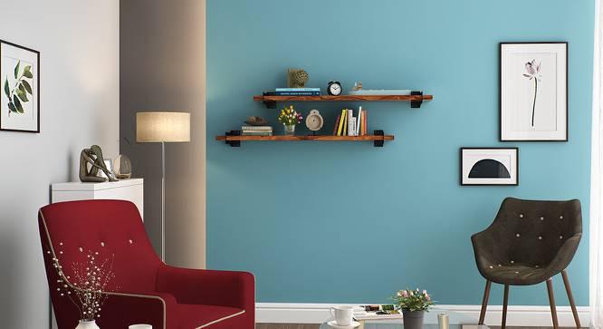 Ryter Shelves - Set Of 2 (3.5' Shelf Width, Teak) by Urban Ladder