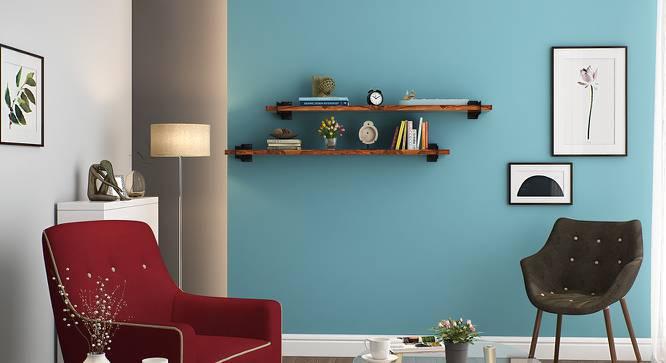 Ryter Shelves - Set Of 2 (4' Shelf Width, Teak) by Urban Ladder