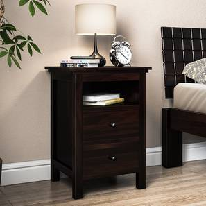 Snooze Tall Bedside Table Mahogany Finish By Urban Ladder
