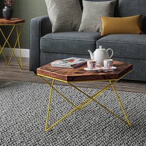 Dyson Hex Coffee Table (Teak Finish, Yellow) by Urban Ladder