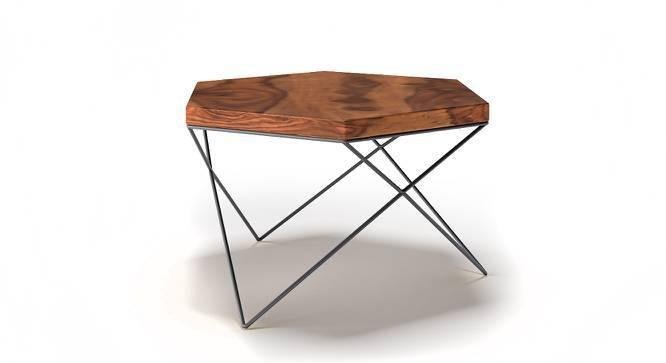 Dyson Hex Coffee Table (Teak Finish, Black) by Urban Ladder
