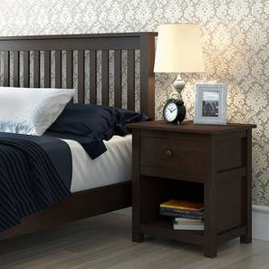 Evelyn Bedside Table (Dark Walnut Finish) by Urban Ladder