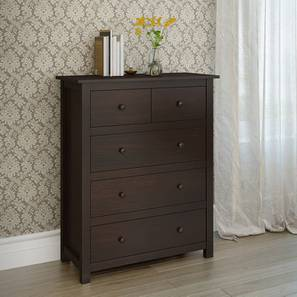 Evelyn Chest Of Drawers (Dark Walnut Finish) by Urban Ladder
