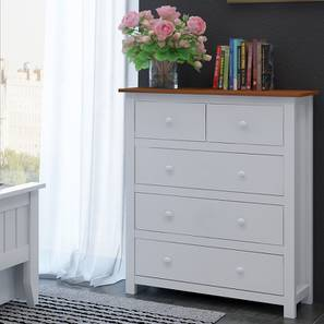 Evelyn Chest Of Drawers (White Finish) by Urban Ladder
