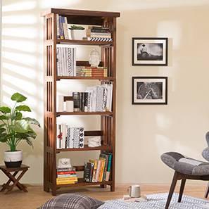 Rhodes Folding Book Shelf (Teak Finish, Tall Configuration) by Urban Ladder