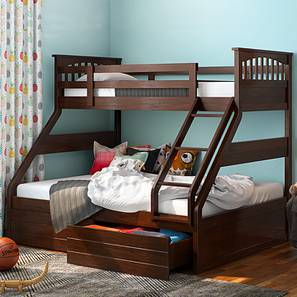 kids bunk bed with stairs full size barnley single over queen storage bunkbed queen bed size dark walnut finish by kids beds buy beds bunk and