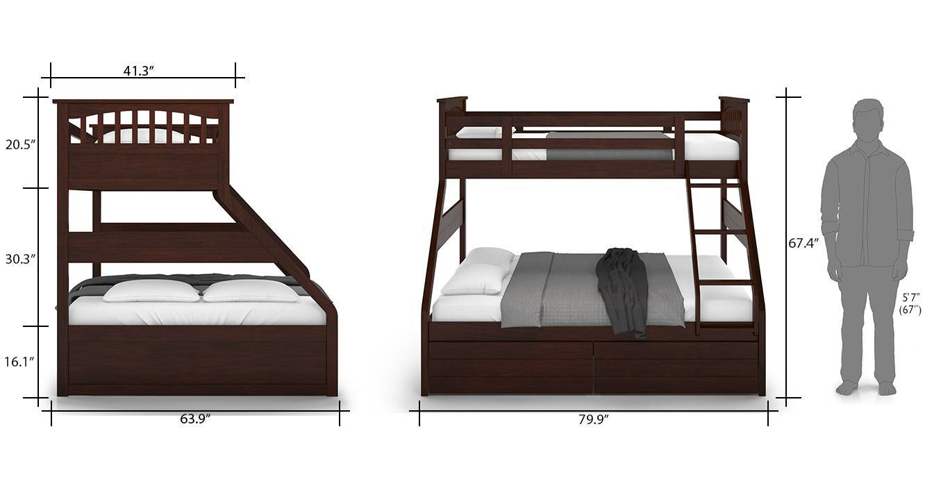 Barnley single queen storage bunk bed 09