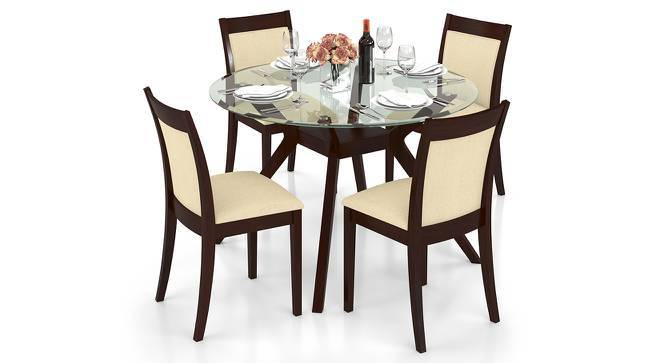 Wesley Dala 4 Seater Round Gl Top Dining Table Set Lb