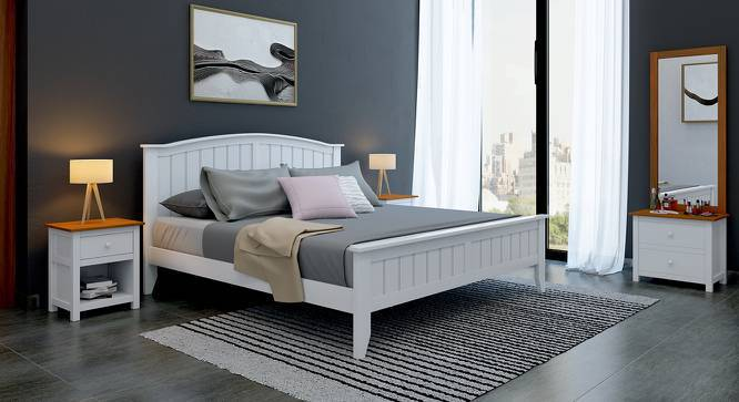 Wichita - Evelyn Compact Bedroom Set (King Bed Size, White Finish) by Urban Ladder