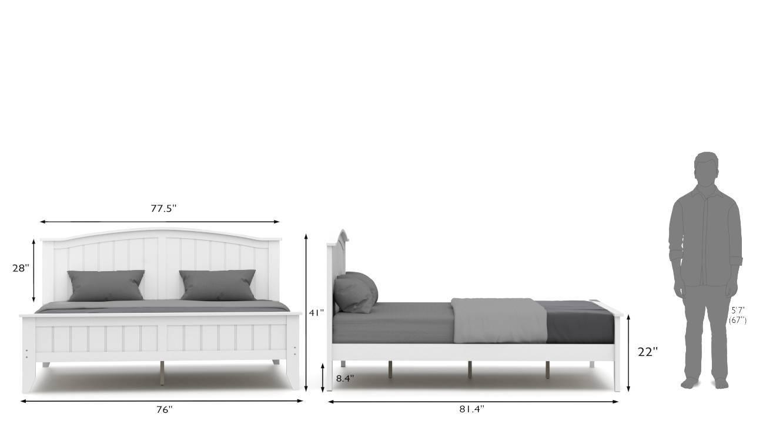 Wichita evelyn master bedroom set white king 27