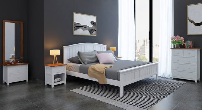 Wichita - Evelyn Master Bedroom Set (King Bed Size, White Finish) by Urban Ladder