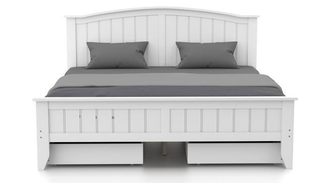 Wichita - Evelyn Storage Compact Bedroom Set (Queen Bed Size, White Finish) by Urban Ladder