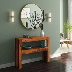 Epsilon Console Table (Teak Finish) by Urban Ladder