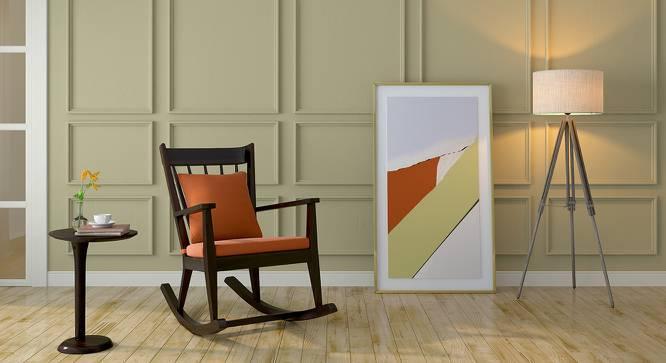Atticus Rocking Chair (Mahogany Finish, Amber) by Urban Ladder