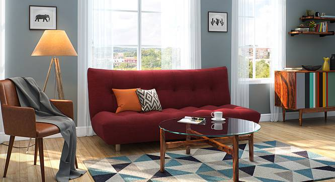Palermo Sofa Cum Bed (Red) by Urban Ladder