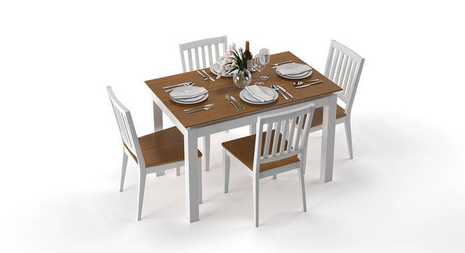 Diner 4 Seater Dining Table Set (Golden Oak Finish) by Urban Ladder