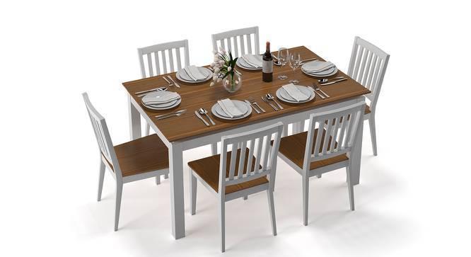 Diner 6 Seater Dining Table Set (Golden Oak Finish) by Urban Ladder