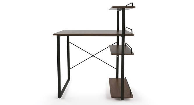 Wallace Study Table - Bookshelf Bundle (Wenge Finish, Corner Bookshelf) by Urban Ladder