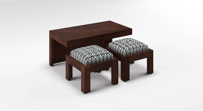 Kivaha 2-Seater Coffee Table Set (Walnut Finish, Black and White) by Urban Ladder