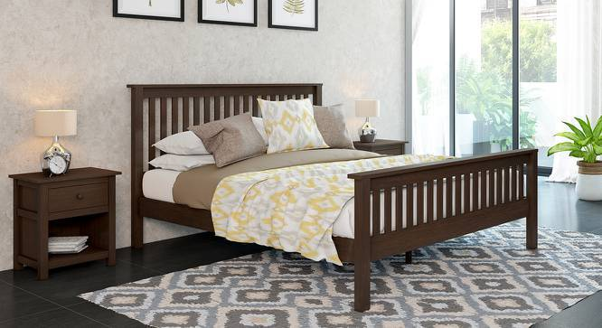 Athens Evelyn Essential Bedroom Set (Queen Bed Size, Dark Walnut Finish) by Urban Ladder