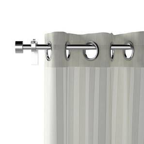 "Vonal Sheer Curtains - Set Of 2 (White, Door Curtain Type, 52""x84"" Curtain Size) by Urban Ladder"