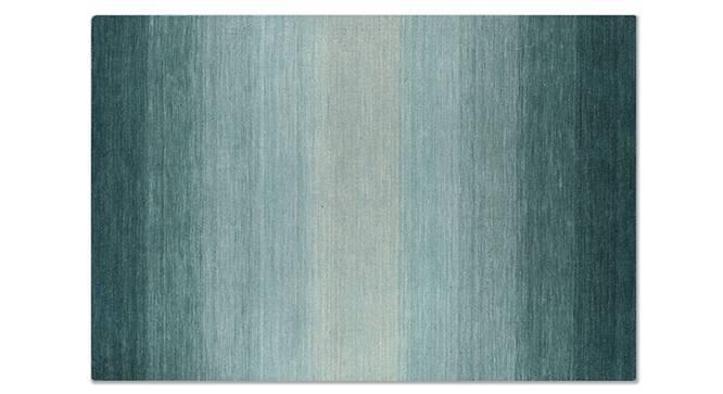 "Aurora Hand Loom Carpet (48"" x 72"" Carpet Size, Teal) by Urban Ladder"
