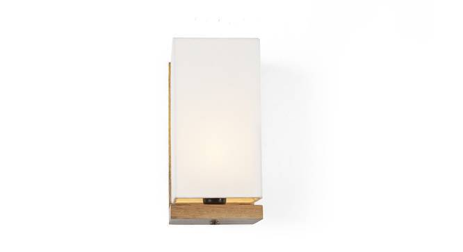Pelham Wall Lamp (Natural Base Finish, Cotton Shade Colour) by Urban Ladder