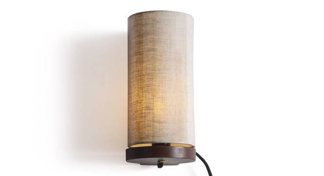 Perkins Wall Lamp (Walnut Base Finish, Natural Linen Shade Colour) by Urban Ladder
