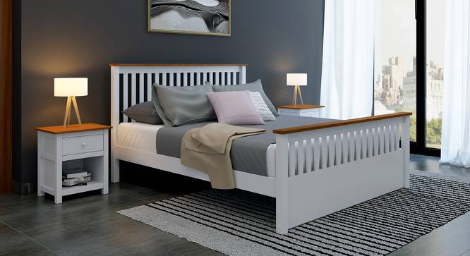 Athens Evelyn Essential Bedroom Set (Queen Bed Size, White Finish) by Urban Ladder
