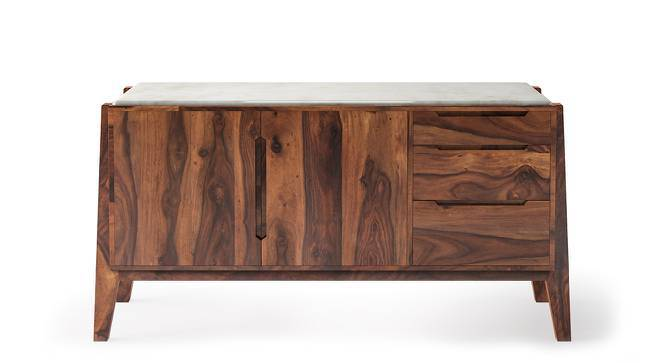 Galatea Marble Sideboard (Teak Finish) by Urban Ladder