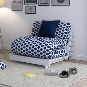 Finn Futon Sofa Cum Bed (Inkblot Blue) by Urban Ladder