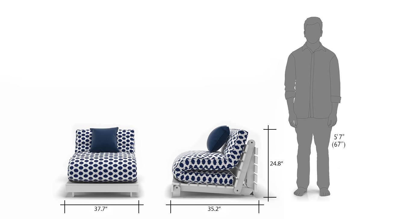 Finn futon sofa bed blue 13