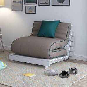 Finn Futon Sofa Cum Bed (Cinnamon Dust) by Urban Ladder