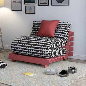 Finn Futon Sofa Cum Bed (Scalloped Scoops) by Urban Ladder