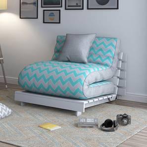 Finn Futon Sofa Cum Bed (Nautical Herringbone) by Urban Ladder