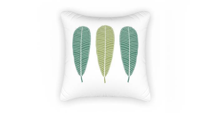 "Frangipani Cushion Cover - Set of 2 (16"" X 16"" Cushion Size, Three Of Leaves Pattern) by Urban Ladder"
