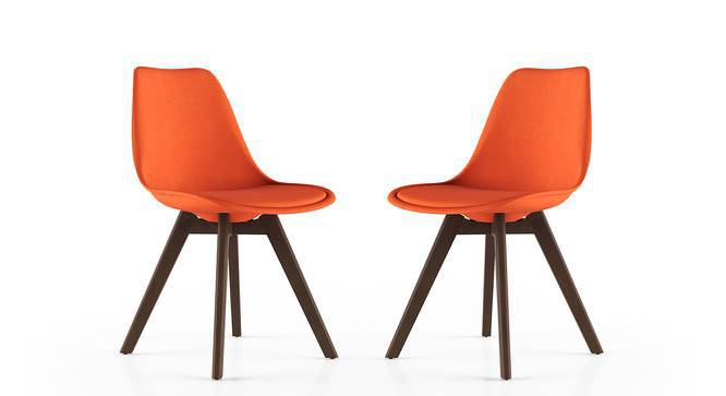 Pashe Dining Chairs - Set of 2 (Rust) by Urban Ladder