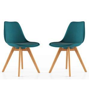 Pashe Dining Chairs - Set of 2 (Teal) by Urban Ladder