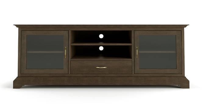 "Eleanor 66"" TV Cabinet (Vintage Brown Oak Finish) by Urban Ladder"