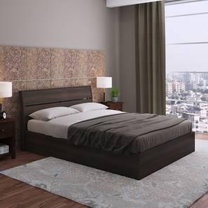 Myers Hydraulic Storage Bed (Queen Bed Size, Dark Walnut Finish) by Urban Ladder