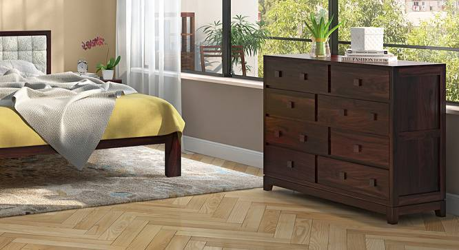 Magellan 8 Drawer Chest of Drawers (Mahogany Finish) by Urban Ladder