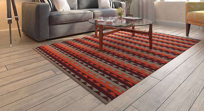 "amaro (48"" x 72"" Carpet Size, Orange & Maroon) by Urban Ladder"