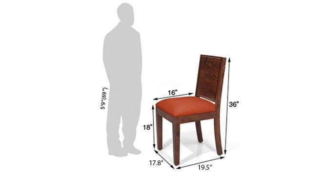 Oribi dining chairs teak brunt orange 07