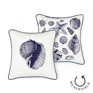 "Songs Of The Sea Cushion Cover - Set of 2 (16"" X 16"" Cushion Size, Conch Pattern) by Urban Ladder"