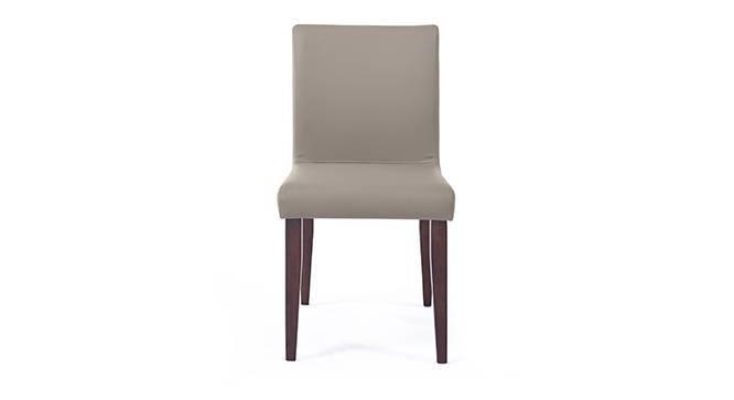 Persica Dining Chair - Set of 2 (Beige, Dark Walnut Finish) by Urban Ladder