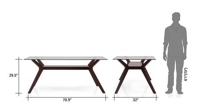 Wesley persica leatherette 6 seater glass top dining table set 8