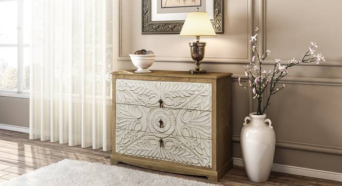 Annika Chest Of Drawers (Natural Finish) by Urban Ladder