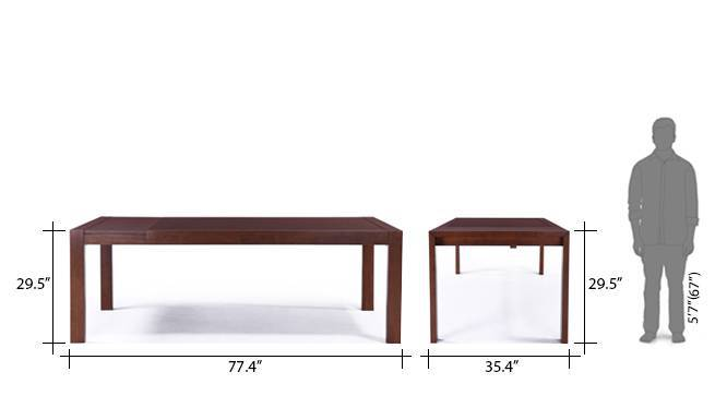Vanalen 6 to 8 extendable leon 8 seater dining table set beige 15